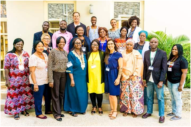 DOAF's Director, House Mother and Counselor at a capacity building workshop for the 4 safe houses in Nigeria Organized by Media Coalition against Human Trafficking (MeCaht) and KIT Denmark; in Abuja.