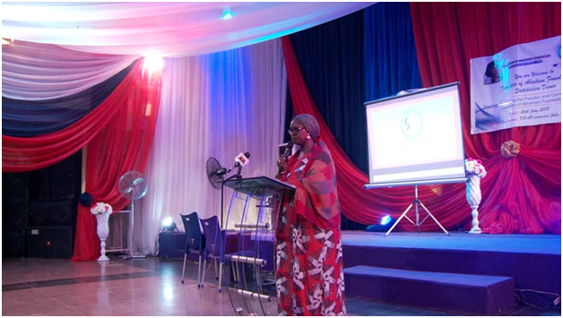 Director DOAF, giving her speech during the stakeholders' dinner