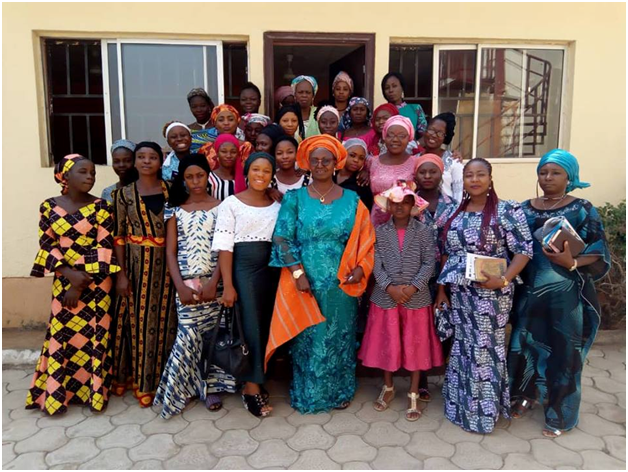 Staff and Daughters of DOAF pose for a photo after a joint first Sunday Service of the year.